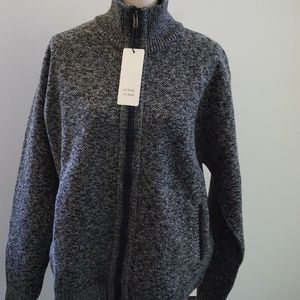Other - NWT Fleece lined Mens Zipper Cardigan